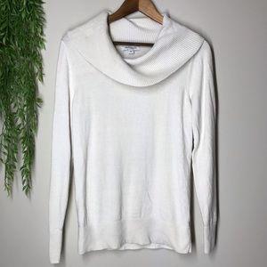 Banana Republic cowl neck sweater off white sz m